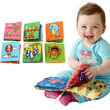 Soft Cloth Baby Child Kid Intelligence Development Learning Picture Cognize Book