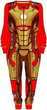 Official Iron Man 3 Boys All In One Jersey Onesie Kids Costume Fancy Dress Onsie
