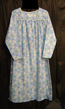SCOTTIE WESTIE DOG LONG SOFT SMOCKED 100% COTTON FLANNEL NIGHTGOWN GOWN~1X~NEW