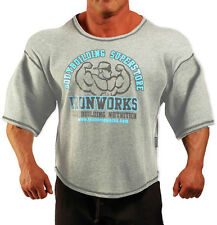 LIGHT GREY TEAM IRONWORKS BODYBUILDING CLOTHING WORKOUT TOP