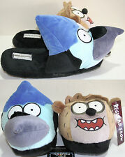 The Regular Show: MORDECAI BIRD & RIGBY RACCOON Plush FACE Slippers House Shoes