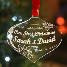 Personalised Christmas Tree Decoration Our First Christmas Bauble Gift