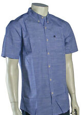 Quiksilver Trig SS Button Down Shirt - Classic Blue - New