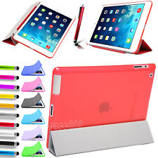 Magnetic Slim Leather Smart Cover For Apple iPad with Hard Back Case Sleep/Wake