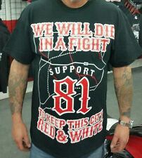 Hells Angels ( Official ) Support 81 Gear TShirt  To Keep This City Red & White