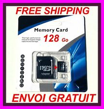 128GB Micro SDHC CLASSE 10 + ADAPTER SD 128Go samsung galaxy S5 S4 S3 note tab.
