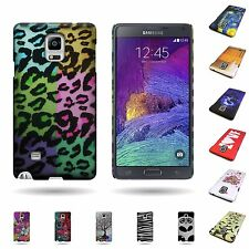 Hard Rubberized 1Pc Back Slim Plastic Design Case for Samsung Galaxy Note 4