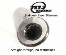 "High Grade Stainless Exhaust Silencer Box 4"" 5"" 6"" Body 1.75 2 2.25 2.5 3"" Inlet"