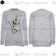 CLEARANCE SALE Womens Ladies Novelty Olaf Frozen Snow Christmas Sweater Jumper