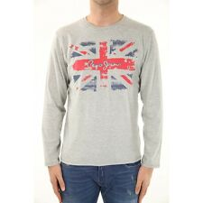 T SHIRT PEPE JEANS HOMME NEW FLAG GRIS