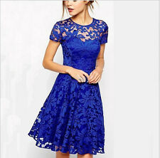 2014 New Fashion Summer Floral Lace Sexy Women dress casual vestidos