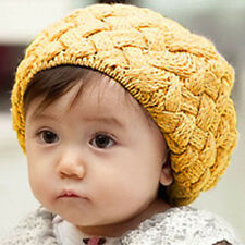 Cute Baby Kid Girl Boy Toddler Winter Warm Knitted Crochet Beanie Ball Hat Cap