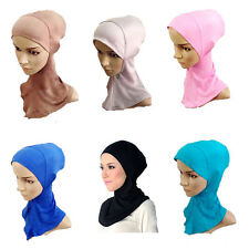 New Underscarf Hat Cap Bone Bonnet Hijab Islamic Head Wear Band Neck Chest Cover