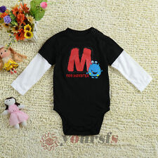 Autumn Baby Boy Rompers Infant Toddler FOR MONSTER Long Sleeve Bodysuits