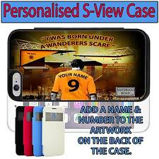 PERSONALISED UNOFFICIAL WOLVERHAMPTON WANDERERS iPHONE S VIEW FLIP CASE GIFT