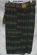 The Foundry Supply Belted Plaid Cargo Shorts men's size 44 46 48 50 52 54 NEW