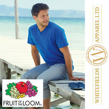 Fruit Of The Loom - Value weight V-neck T-shirt Sizes (S~2XL) SS034