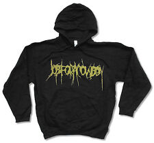 """JOB FOR A COWBOY """"GREEN LOGO"""" BLK PULLOVER HOODIE SWEATSHIRT NEW OFFICIAL ADULT"""