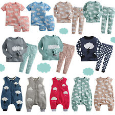 "NWT Baby Toddler Kids Girl Boy Sleepsack Sleepwear outfits set""Cloud Collection"""