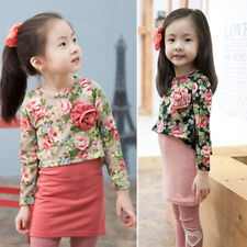Baby Kid Girl Floral Bow Princess Party Evening Wedding Dress Skirt Clothes FT08
