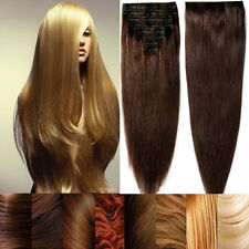 High Quality Real Inch Clip In Remy Human Hair Extensions Full Head Wedding E323