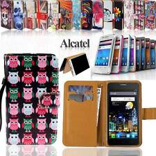 Folio Wallet Card Stand Leather Magnetic Case Cover For Alcatel One Touch Phones
