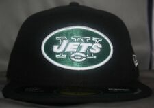 NEW YORK JETS AUTHENTIC ON-FIELD 59FIFTY FITTED HAT / CAP BY NEW ERA BLACK