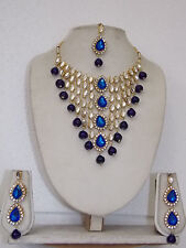 Indian Bollywood Diamantes Bridal Necklace & Earrings Jewelry Set  1007