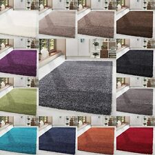 Modern Ex-Large Luxury Thick Soft Shaggy Rugs Pile Plain Non-Shed Home Office