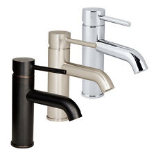 Euro Modern Bathroom Vessel Vanity Sink Faucet Lavatory Single Hole Popup Drain