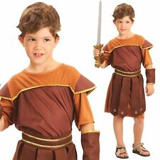 Child Gladiator Party Outfit New Fancy Dress Costume Roman Warrior Kids Boys