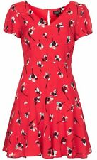 TOPSHOP EXCLUSIVE ALEX JONES on THE ONE SHOW PAINTED RED FLORAL DRESS SIZE 6-16