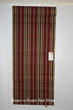 Thermal Lined Roman Shade in Rust Red Stri - FREE SHIP!