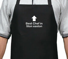 PERSONALISED BEST CHEF IN STON EASTON APRON XMAS BIRTHDAY GIFT