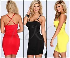 Sexy New Women's Plus Size Mini Cut Out Tight Party Clubbing Formal Dress 8-16
