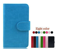 C1 New Smooth PU Wallet Card Leather Cover Case Pouch for BLU Smart Phone