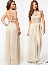 Women Long Lace Prom Evening Party Bridesmaid Wedding Maxi Dress