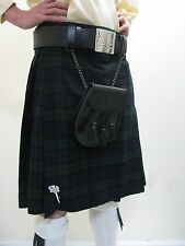 Black Watch Tartan Scottish Kilt Waist Sizes 30, 34, 38, 40, 48 NEW WITH DEFECT