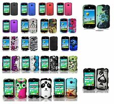 For ZTE Zinger Z667T Hard Case Snap-on Phone Cover Case + Free Screen Protector