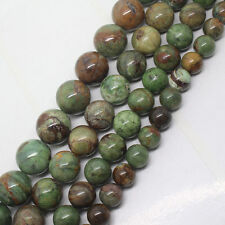 4,6,8,10,12,14,16mm Natural Green Opal Round Gemstone Beads 15""