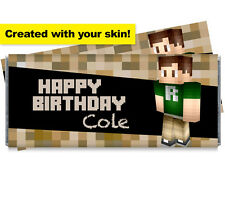 Your Skin! Minecraft Inspired Personalized Candy Bar Wrappers With Your Skin!