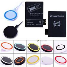 Qi Wireless Charger Pad + Receiver Card for Samsung Galaxy S 3 III i9300 #B LNC