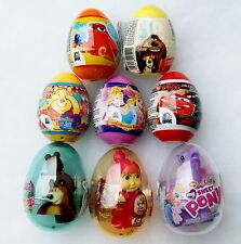 PLASTIC SURPRISE EGGS with Toy Inside - Disney CARS, Minnie, Princess, Planess