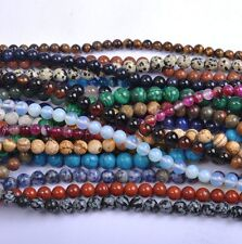 Wholesale Lot 40Pcs 4MM Natural Gemstone Round Spacer Loose Beads Multi color