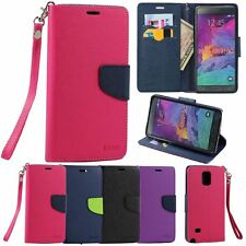 Magnetic Flip Leather Wallet Stand ID Card Case Cover for Samsung Galaxy Note 4