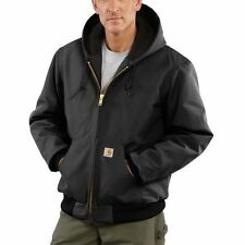 Carhartt Men's J140 Duck Active Jacket /Quilted-Flannel Lined