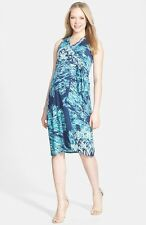 New JAPANESE WEEKEND MATERNITY Nursing 'Desk to Dinner' Jersey Wrap Dress $98
