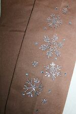 OVER THE BOOT  OR FOOTED SKATING TIGHTS FROZEN  SNOWFLAKE BLING!!