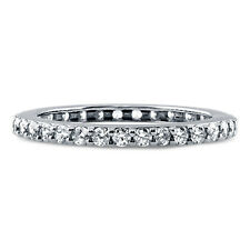 BERRICLE Sterling Silver 0.5 ct.tw Round CZ Wedding Eternity Band Ring