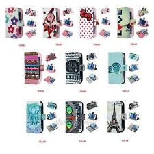 Various Pattern Design Stand Wallet Soft TPU Cover Case For Samsung Galaxy Phone
